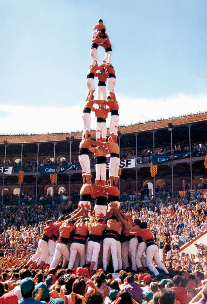 Primer 3de9f Concurs de Castells 1996