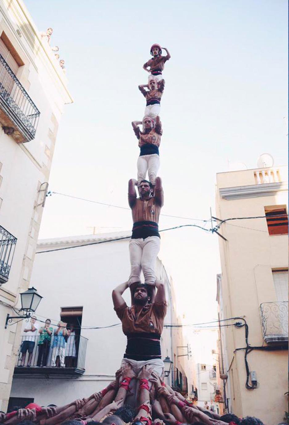 Primer pilar de 6 el Catllar 2016