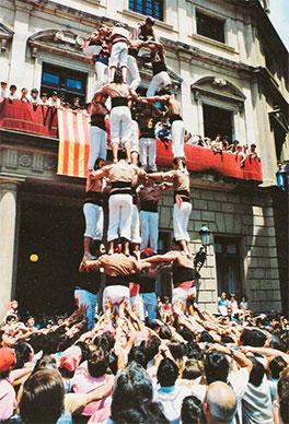 Primer 5de7 de la colla per Sant Pere 1985